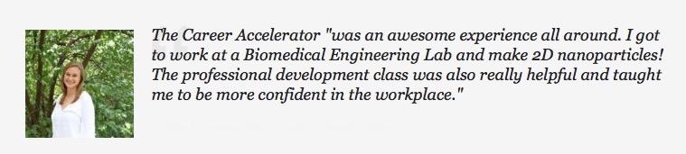 The Enrichery Career Accelerator Testimonial Biomedical Engineering