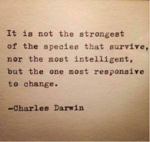 Charles Darwin adapt and change
