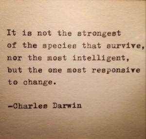 Charles Darwin adapt and change