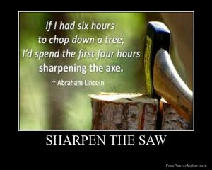 sharpen the saw_be lincoln