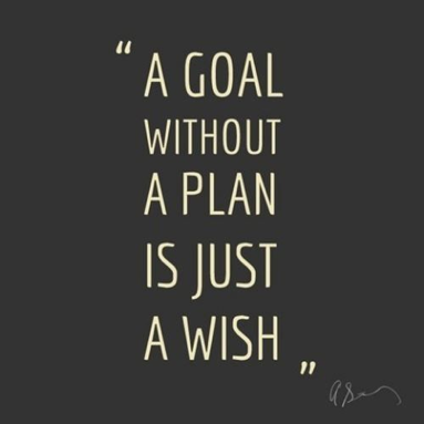 a gold without a plan is just a wish