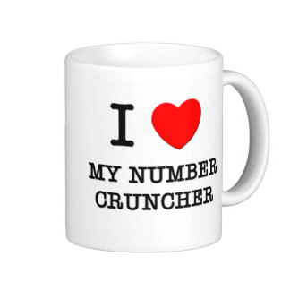 i  love my number cruncher coffee mug