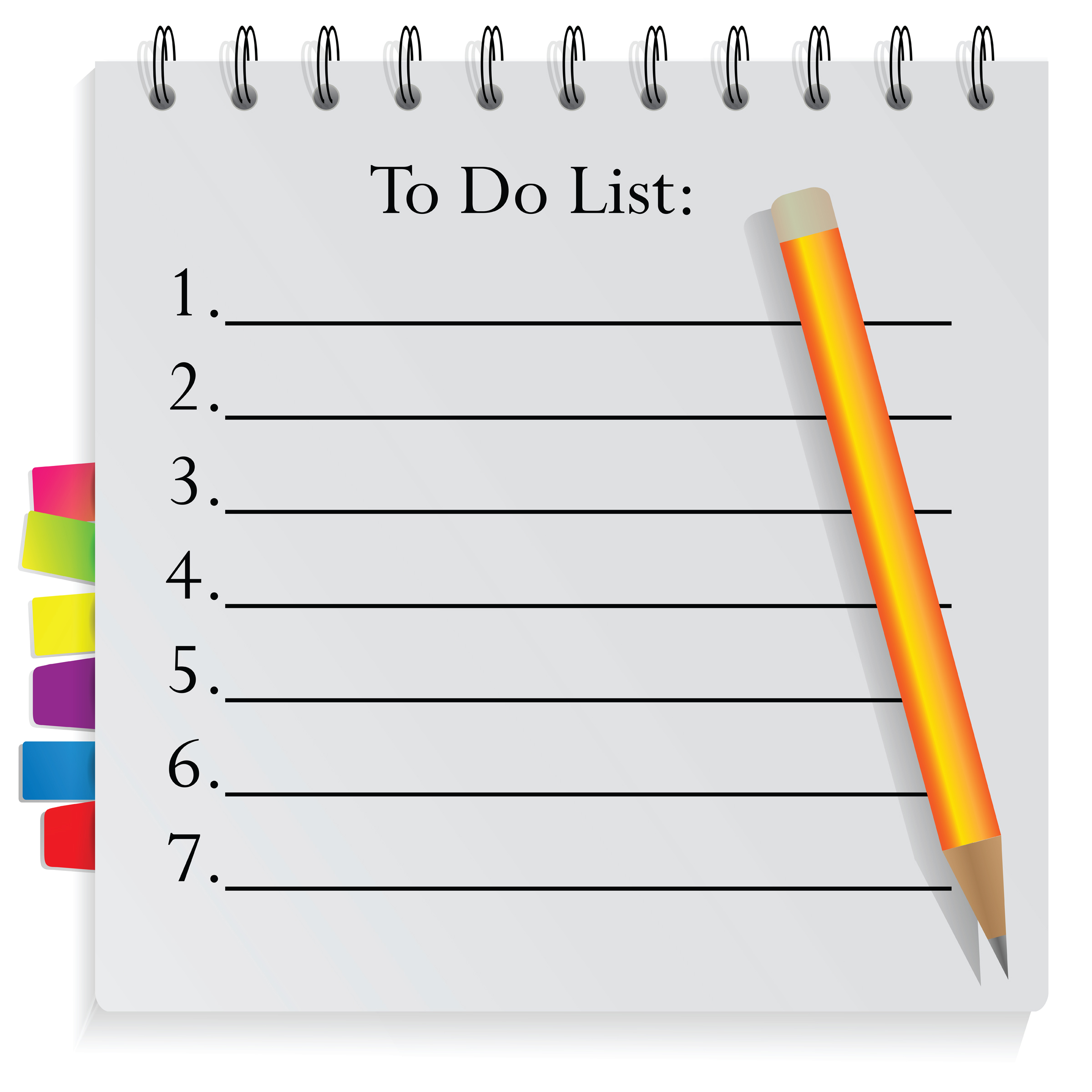 Pencil and Paper To Do List