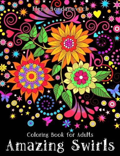 Amazing Swirls Coloring Book for Adults: $6.98 on Amazon