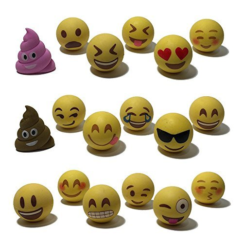 Set of 18 Emoji Erasers: $16.45 on Amazon