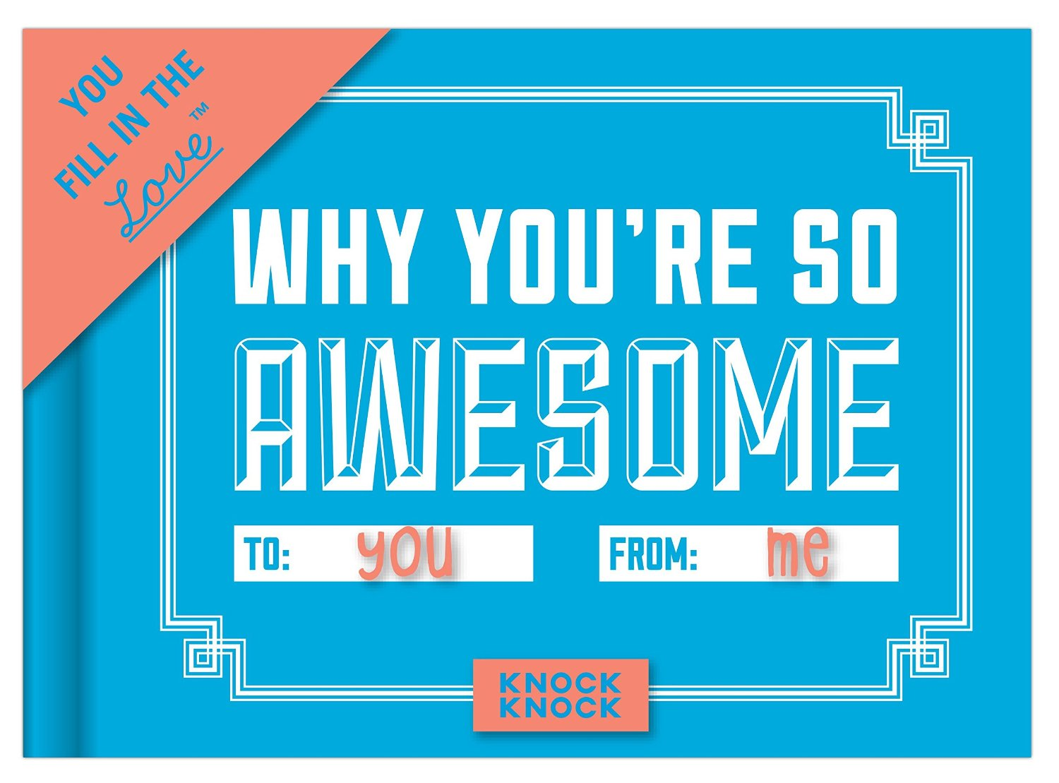 """Why You're So Awesome"" Journal: $9.95 on Amazon"