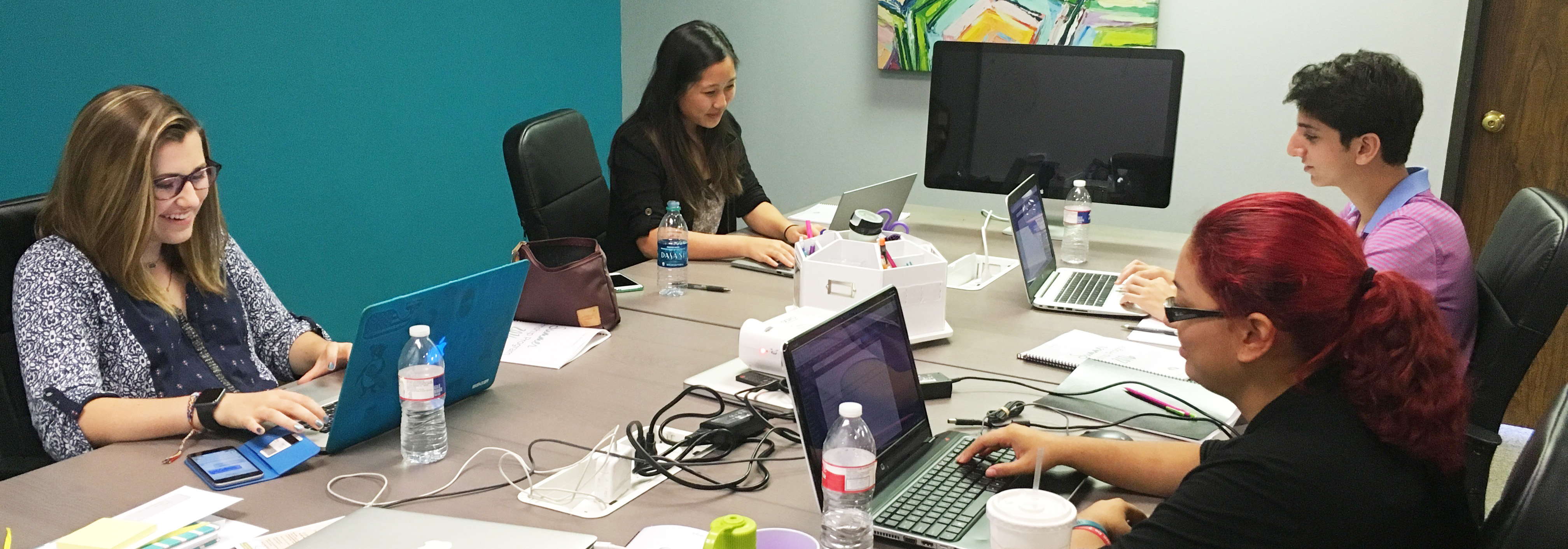 Interns Working on Project