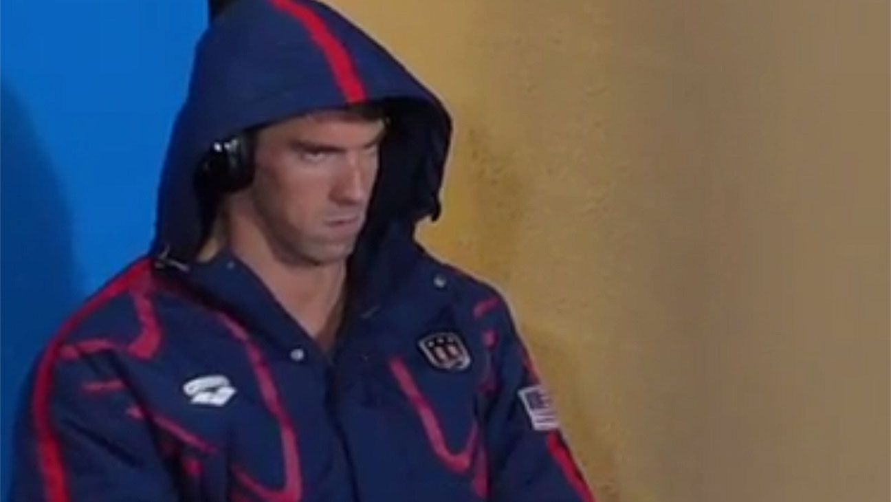 Olympian Michael Phelps Listening to Musics