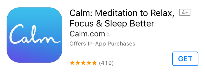 Good Apps for Students - Calm - Meditation to Relax, Focus & Sleep Better