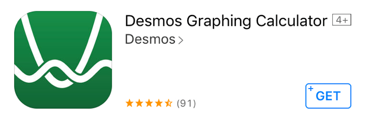 Good Apps for Students - Desmos Graphing Calculator