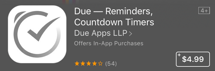 Good Apps for Students - Due, Reminders, Countdown Timers