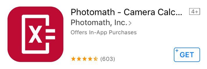 Good Apps for Students - Photomath - Camera Calculator