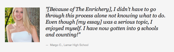 Lamar Houston High School Student College Admissions Workshop Testimonial