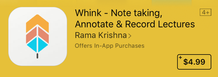 Good Apps for Students - Whink - Note taking, Annotate & Record Lectures
