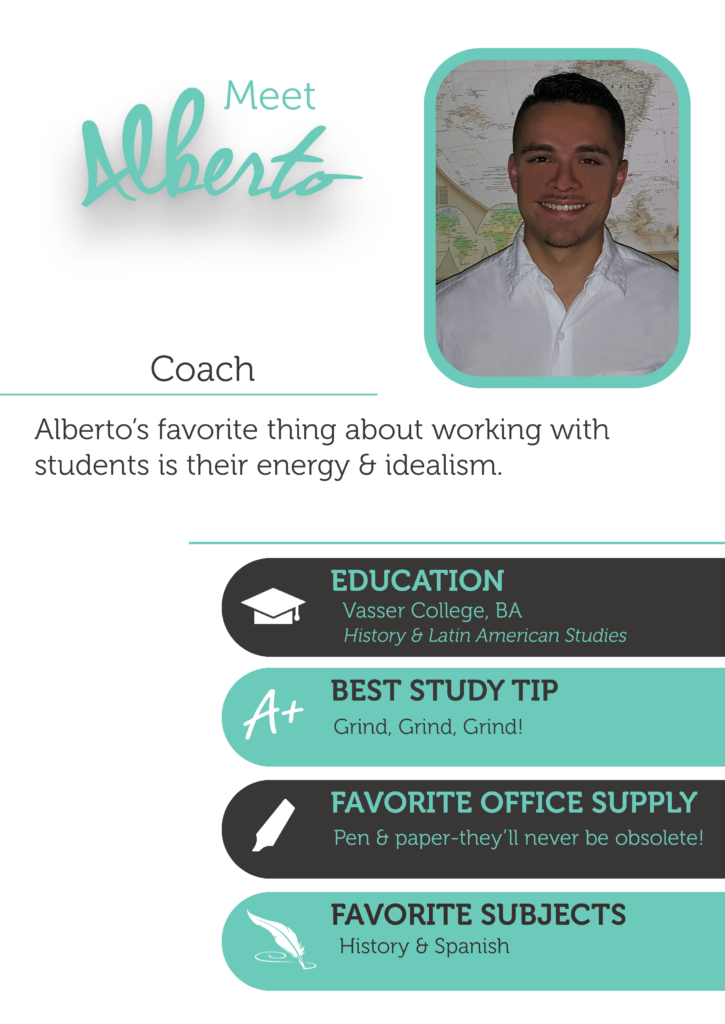 Alberto is an essay writing coach, History coach, and Spanish coach at The Enrichery