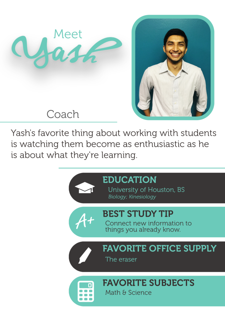 Yash is a math and science tutor at The Enrichery.